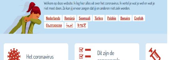 Info Corona in begrijpelijk taal en uw eigen taal